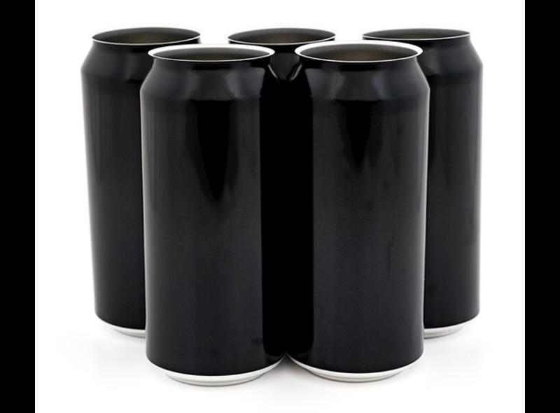 440ml sort Ølboks - 162stk